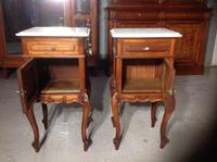 Pair of French Mahogany Bedside Cabinets (7 of 8)