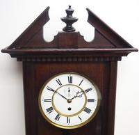 Antique German Single Weight Walnut 8-Day Vienna Regulator Wall Clock (7 of 10)