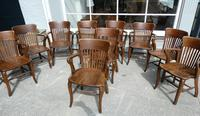 10 1920's Solid Oak Chairs (4 of 7)