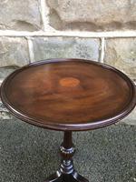 Antique Inlaid Mahogany Tripod Wine Table (4 of 6)