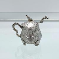 Antique Victorian Sterling Silver Condiment Set on Stand London 1879 George Fox (5 of 11)