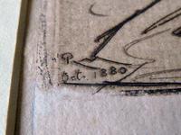 "Robert Walker Macbeth Scottish Etching ""The Ferry"" 1880 (3 of 4)"