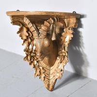 Black Forest Carved Limewood Wall Bracket (2 of 5)