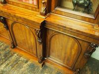 Victorian Mahogany Breakfront Cabinet Bookcase (8 of 19)