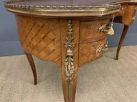 French Kingwood Parquetry Kidney Shaped Desk (13 of 19)