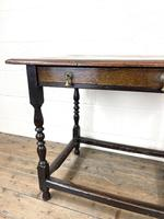 18th Century Antique Oak Side Table (5 of 11)