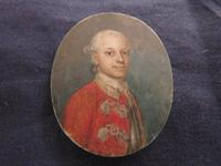 Miniature Portrait Georgian Officer c 1750 (4 of 4)