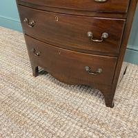 Small Edwardian Mahogany Antique Bow Fronted Chest of Drawers (5 of 8)