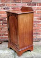 Edwardian Mahogany Wood Inlaid Bedside Cabinet (4 of 7)