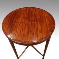 Edwardian Inlaid Circular Mahogany Occasional Table (5 of 6)