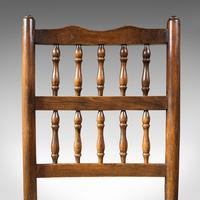 Set of 12, Antique Lancashire Chairs, Beech, Spindle Back, Seat, Edwardian, 1910 (9 of 12)