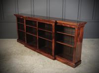 Large Regency Breakfront Rosewood Open Bookcase (2 of 12)