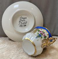 Limoges Hand Painted Cup and Saucer (2 of 4)