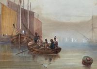 19th Century British School - Masted Ships - Military - Marine - Watercolour Painting (4 of 10)