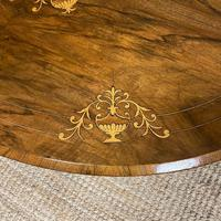 Spectacular Inlaid Walnut Antique Coffee Table (6 of 7)