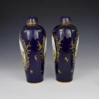 Pair of Large Dresden Porcelain Vases & Covers c.1880 (3 of 12)