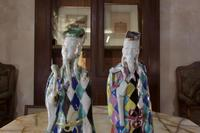 Charming Near Pair of 18th Century Chinese Export Immortals - Harlequin (8 of 11)