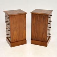 Pair of Antique Victorian Burr Walnut Bedside Chests (7 of 10)