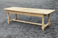 Large Bleached Oak Farmhouse Dining Table with Extensions & Storage (10 of 35)