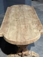 Large Rustic French Bleached Oak Farmhouse Dining Table (15 of 40)