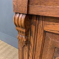 Victorian Carved Oak 3 Door Bookcase (20 of 23)