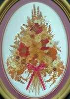 19th Century Victorian Floral Still Life of Pressed Flowers Picture (2 of 12)
