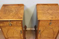 Quality Pair of Burr Walnut Bedside Cabinets (2 of 14)
