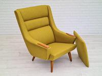 Danish Design, 70s, Completely Restored Armchair, Furniture Wool, Teak Wood (10 of 13)