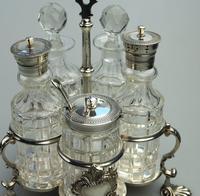 A Fine Silver Plate Warwick Type Cut Glass 5 Bottle Cruet C.1863/64 (3 of 9)