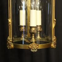 French Gilded Bronze Antique Hall Lantern (7 of 9)