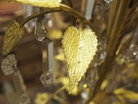 Edwardian Gilded and Glass Chandelier (2 of 13)