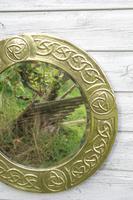 Arts & Crafts Movement Scottish / Glasgow School Circular Wall Mirror c.1900 (9 of 24)