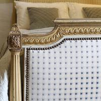 Louis XVI Style Bed with Upholstered Panels (3 of 10)