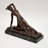 Large Art Deco Bronze Dancing Nude Figure (7 of 9)