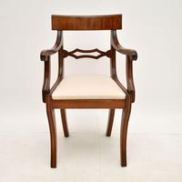 Pair of Antique Regency Period Mahogany Carver Armchairs (5 of 11)