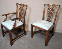 Set of Eight Mahogany Chippendale Style Chairs G.t.rackstraw - Droitwich (6 of 12)
