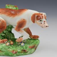 Fine Derby Porcelain Figure Model of Pointer Dog c.1800 (9 of 12)