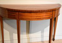Demi Lune Console Table Sheraton Revival Sunburst Design (3 of 6)