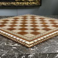 Rosewood bone and mother of Pearl chess board (4 of 7)
