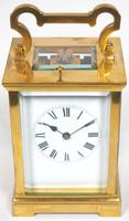 Antique French 8-Day Repeat Carriage Clock Bevelled Case with Enamel Dial  Gong Striking (5 of 5)