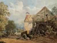 William Charles Goddard (exh.1885) Stunning Country Watermill Landscape Painting (2 of 15)