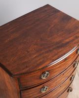 George III Mahogany Bowfront Chest of Drawers (2 of 5)