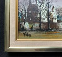 Ronald Folland (1932-1999) Original Signed Winter Village Landscape Oil Painting (9 of 12)