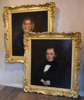 Large Pair of Victorian Oil Portraits (2 of 8)