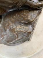 Stunning Large Bronze Group 'Gloria Patriae' by Eugene Marioton (4 of 9)