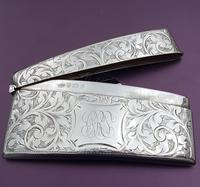 Solid Silver Curved Card Case (2 of 4)