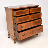 Antique Burr  Walnut Chest of Drawers (6 of 11)
