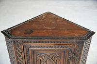 Antique Carved Oak Corner Cabinet (5 of 12)
