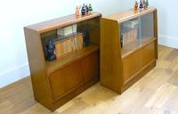 E Gomme G Plan Oak Mid Century Cabinet Bookcase Display Unit x 2 (4 of 18)
