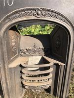 Antique Cast Iron Fireplace Insert with Hob Shelves (3 of 6)